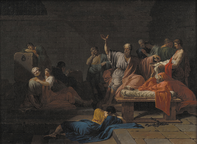 the death of socrates by jacques-louis david essay The essay jacques-louis david's painting this work by jacques-louis the death of socrates painting was completed just a few years before the french.