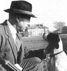 Georges de Mestral y su perro . Tomado de mosafilm.de.