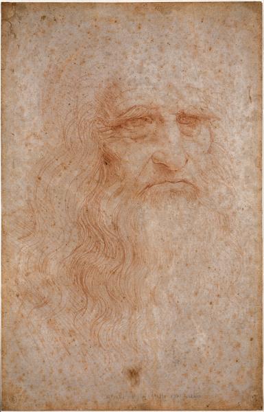 Supuesto autoretrato de Da Vinci conservado en la Biblioteca Nacional de Turín